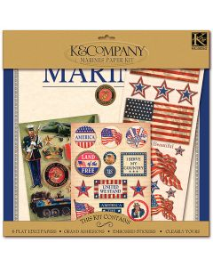 "K&Company K&CO Scrap Kit 12""X12""-Military - Marines"