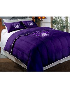 """The Northwest Company TCU Twin/Full Chenille Embroidered Comforter Set (64""""x86"""") with 2 Shams (24""""x30"""") (College) - TCU Twin/Full Chenille Embroidered Comforter Set (64""""x86"""") with 2 Shams (24""""x30"""") (College)"""