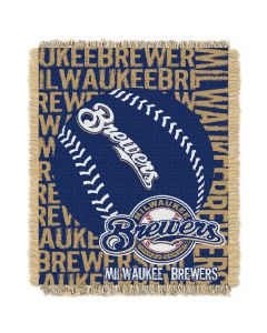 The Northwest Company Brewers  48x60 Triple Woven Jacquard Throw - Double Play Series