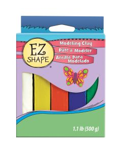 Polyform NEW! Ez Shape Non-Hardening Modeling Clay 1.1lb 5/Pkg-Primary