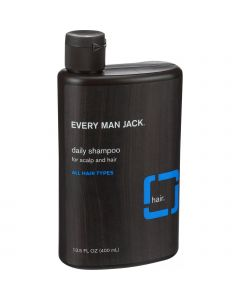 Every Man Jack Daily Shampoo - Scalp and Hair - All Hair Types - Signature Mint - 13.5 oz