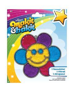 Colorbok Makit & Bakit Suncatcher Kit-Glitter Smiley Face Flower