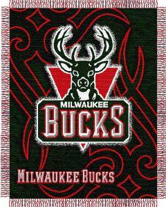 "The Northwest Company Bucks 48""x60"" Triple Woven Jacquard Throw (NBA) - Bucks 48""x60"" Triple Woven Jacquard Throw (NBA)"