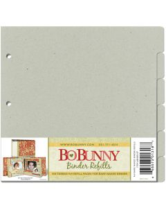 "BoBunny 3-Ring Bare Naked Binder Pages 9""X9"" 6/Pkg-"