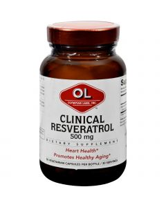 Olympian Labs Clinical Resveratrol - Extra Strength - 30 Vcaps
