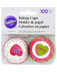 Wilton Mini Baking Cups-Words Can Express 100/Pkg