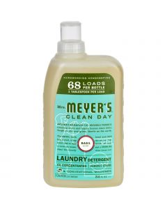 Mrs. Meyer's 68 Load 4x Laundry Detergent - Basil- 34 fl oz