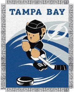 "The Northwest Company Lightning 044 baby 36""x 46"" Triple Woven Jacquard Throw (NHL) - Lightning 044 baby 36""x 46"" Triple Woven Jacquard Throw (NHL)"