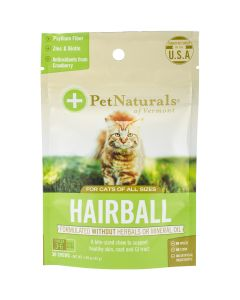 Pet Naturals of Vermont Hairball Chews For Cats 30/Pkg-