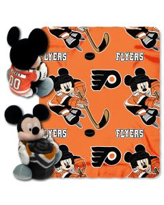 "The Northwest Company Flyers -Disney 40x50 Fleece Throw w/ 14"" Plush Mickey Hugger"