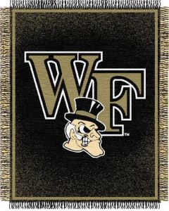 "The Northwest Company Wake Forest ""Focus"" 48""x60"" Triple Woven Jacquard Throw (College) - Wake Forest ""Focus"" 48""x60"" Triple Woven Jacquard Throw (College)"