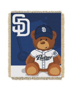 The Northwest Company Padres  Baby 36x46 Triple Woven Jacquard Throw - Field Bear Series