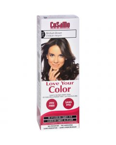 Love Your Color Hair Color - CoSaMo - Non Permanent - Medium Brown - 1 ct