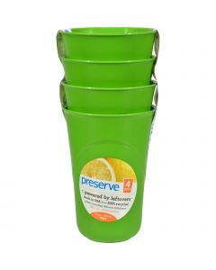 Preserve Reusable Cups Apple Green - 16 oz Each / Pack of 4