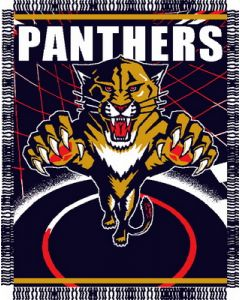 "The Northwest Company Panthers 48""x 60"" Triple Woven Jacquard Throw (NHL) - Panthers 48""x 60"" Triple Woven Jacquard Throw (NHL)"