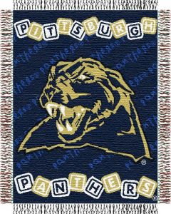 "The Northwest Company Pittsburgh Panthers baby 36""x 46"" Triple Woven Jacquard Throw (College) - Pittsburgh Panthers baby 36""x 46"" Triple Woven Jacquard Throw (College)"