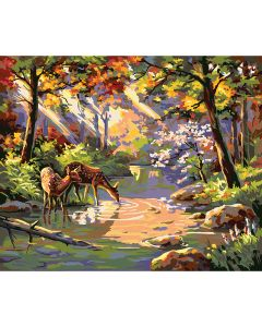 "Plaid:Craft NEW! Paint By Number Kit 16""X20""-Do Ray Me Creek"