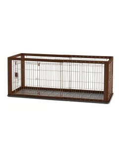 "Richell Expandable Pet Crate with Floor Tray Small Brown 37"" - 62.2"" x 24.6"" x 24"""
