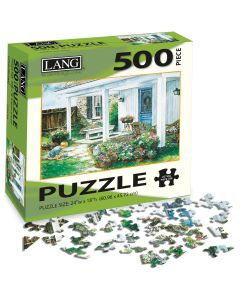"""LANG NEW! Jigsaw Puzzle 500 Pieces 24""""X18""""-A Potted Garden"""