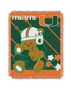 The Northwest Company Miami College Baby 36x46 Triple Woven Jacquard Throw - Fullback Series