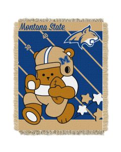 The Northwest Company Montana State  College Baby 36x46 Triple Woven Jacquard Throw - Fullback Series