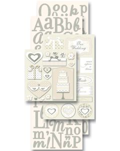 K&Company Flip Pack Sticker Embellishments-Wedding