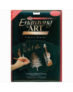 """Royal Brush Foil Engraving Art Blank Boards 5""""X7"""" 6/Pkg-Copper"""