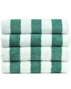 Bare Cotton Luxury Hotel & Spa Towel 100% Genuine Turkish Cotton Pool Beach Towels - Sea Green - Cabana  - Set of 2