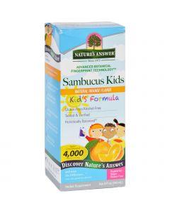 Nature's Answer Natures Answer Sambucus - Kids Formula - Natural Orange Flavor - 8 oz