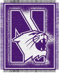 "The Northwest Company Northwestern ""Focus"" 48""x60"" Triple Woven Jacquard Throw (College) - Northwestern ""Focus"" 48""x60"" Triple Woven Jacquard Throw (College)"