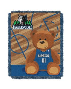 The Northwest Company Timberwolves  Baby 36x46 Triple Woven Jacquard Throw - Half Court Series