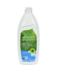 Seventh Generation Dish Liquid - Free and Clear - 25 fl oz - 1 Case