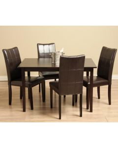 Warehouse of Tiffany Eveleen Brown 5-piece Dining Table and Chair Set