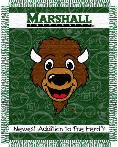 "The Northwest Company Marshall U baby 36""x 46"" Triple Woven Jacquard Throw (College) - Marshall U baby 36""x 46"" Triple Woven Jacquard Throw (College)"