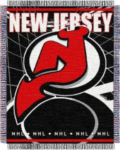 "The Northwest Company Devils 48""x 60"" Triple Woven Jacquard Throw (NHL) - Devils 48""x 60"" Triple Woven Jacquard Throw (NHL)"