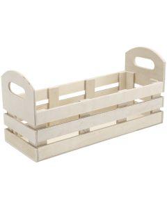 "Darice Unfinished Wood Jar Crate-11""x5.5""x4"""