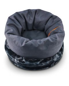 """P.L.A.Y. Small Snuggle Bed 13"""" Diam X 18""""-Charcoal Gray"""