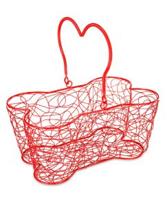 "Buddy's Line Multi Purpose Basket 14""X9""X7""-Red"