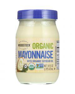Woodstock Mayonnaise - Organic - with Organic Soybean Oil - Jar - 16 oz - case of 12