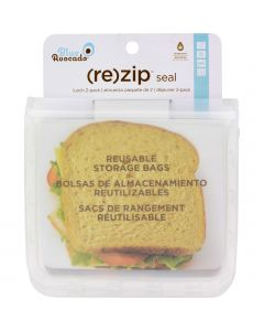 Blue Avocado (Re) Zip Seal Lunch Bag - Translucent - Blue Avocado (Re) Zip Seal Lunch Bag - Translucent