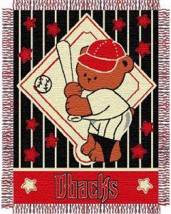 "The Northwest Company Diamondbacks baby 36""x 46"" Triple Woven Jacquard Throw (MLB) - Diamondbacks baby 36""x 46"" Triple Woven Jacquard Throw (MLB)"