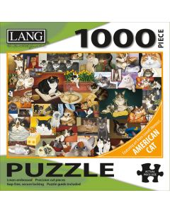 """LANG NEW! Jigsaw Puzzle 1000 Pieces 29""""X20""""-American Cat"""