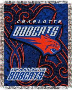 "The Northwest Company Bobcats 48""x60"" Triple Woven Jacquard Throw (NBA) - Bobcats 48""x60"" Triple Woven Jacquard Throw (NBA)"