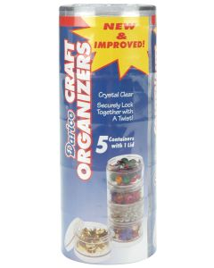 """Darice Craft Organizers Stackable 2"""" Circles-Clear"""