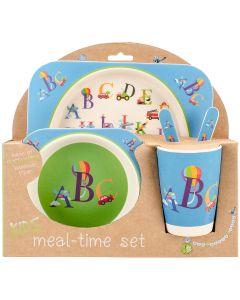 Mon Petit Chou Bamboo Fiber Kids Plate Set-Alphabet
