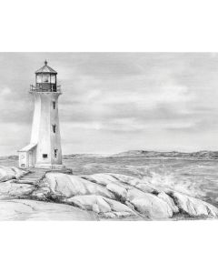 """Royal Brush Sketching Made Easy Kit 9""""X12""""-Lighthouse Point"""
