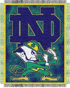 "The Northwest Company Notre Dame ""Focus"" 48""x60"" Triple Woven Jacquard Throw (College) - Notre Dame ""Focus"" 48""x60"" Triple Woven Jacquard Throw (College)"