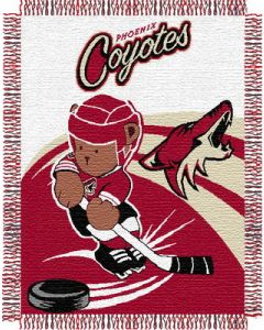 """The Northwest Company Coyotes 044 baby 36""""x 46"""" Triple Woven Jacquard Throw (NHL) - Coyotes 044 baby 36""""x 46"""" Triple Woven Jacquard Throw (NHL)"""