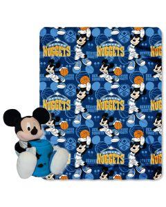 "The Northwest Company Nuggets -Disney 40x50 Fleece Throw w/ 14"" Plush Mickey Hugger"