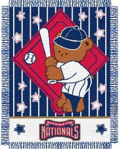 """The Northwest Company Nationals baby 36""""x 46"""" Triple Woven Jacquard Throw (MLB) - Nationals baby 36""""x 46"""" Triple Woven Jacquard Throw (MLB)"""